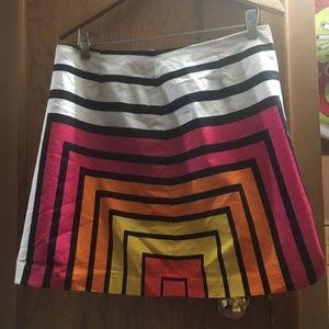 Dresses & Skirts - Geometric Pattern Mini Skirt Retro 70s M/L